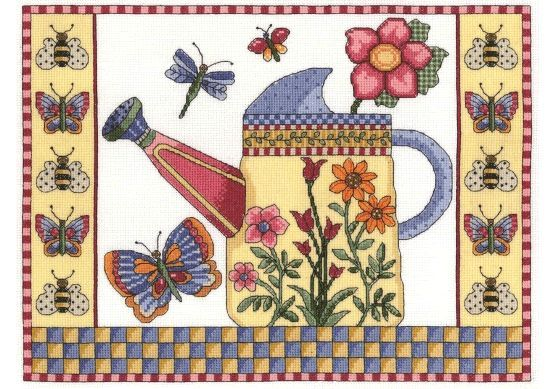 Get that wonderful feeling of summertime with the Butterfly Watering Can Cross Stitch Kit.