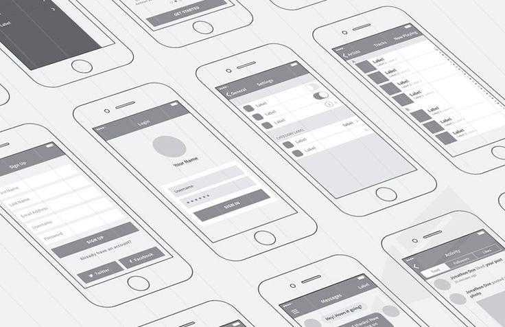 Free Download : iPhone App Wireframing Kit