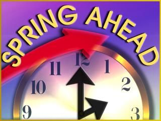 Don't forget this Sunday begins Daylight Savings time. Turn your clocks one hour ahead.