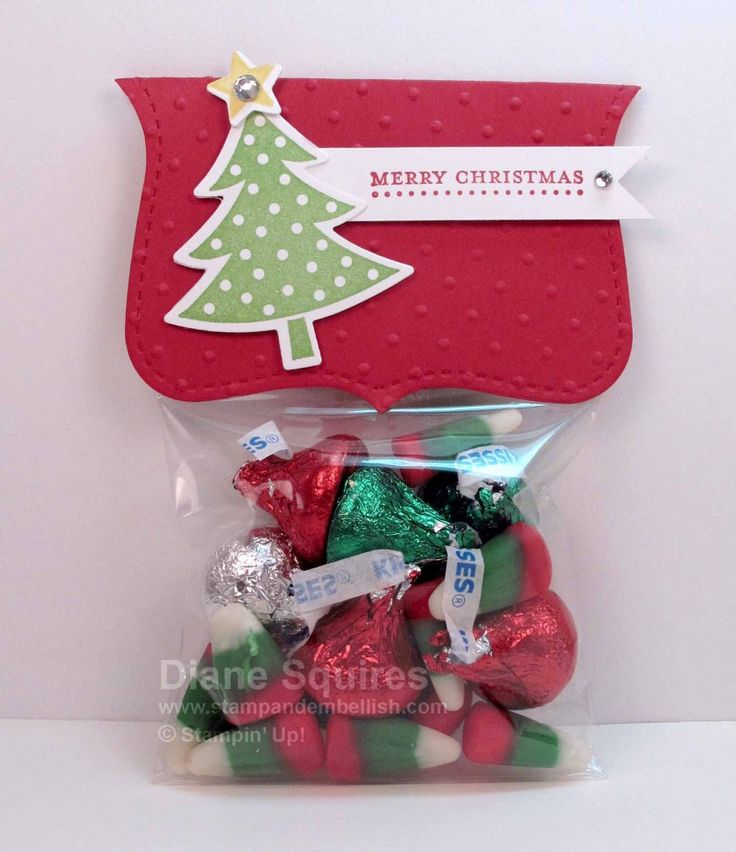 "Quick and easy Christmas treat stopper using Stampin"" Up!'s Top Note"