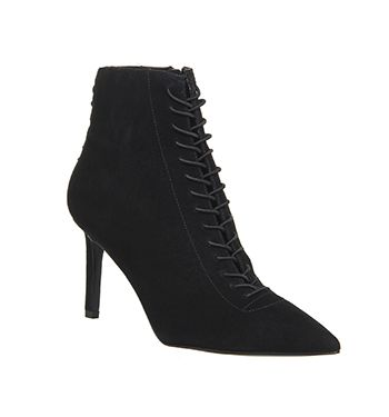 Kendall - Kylie, Liza Lace Ankle Boots, Black Suede