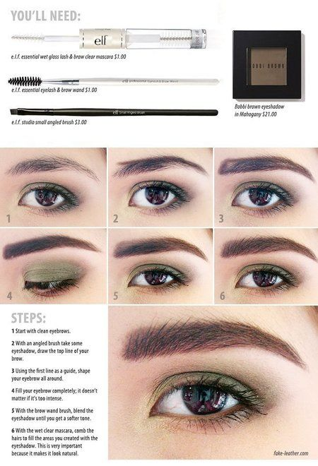 how to make your eyebrows look thicker with powder