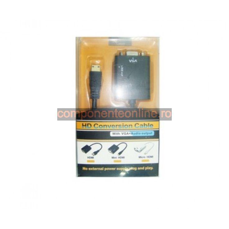 Convertor VGA - HDMI, cu audio - 173626