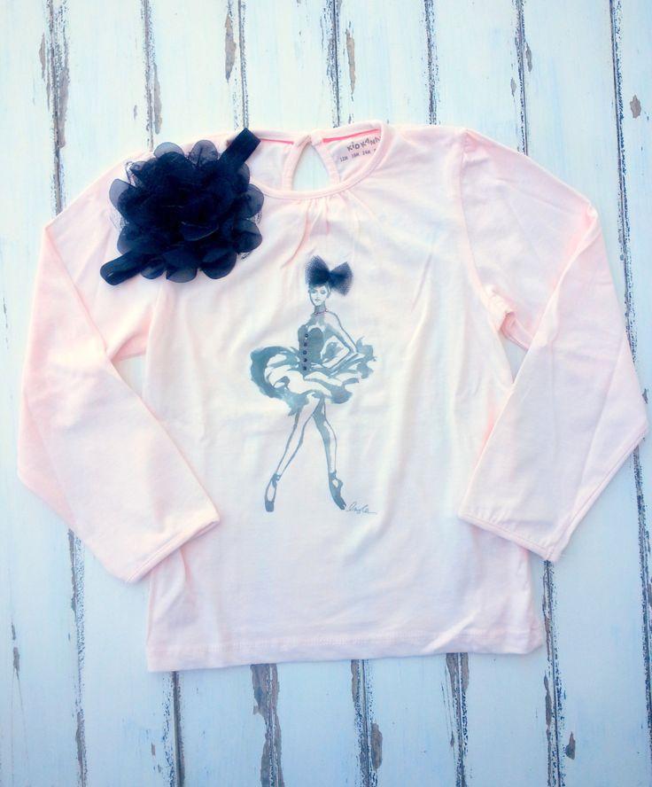 Ballerina Shirt With Matching Headband, Pink Girls Shirt With Rhinestones, Girls T-Shirt 5 Years, Toddler Shirt, Elegant Girl Shirt by PinkAndBlueSugar on Etsy