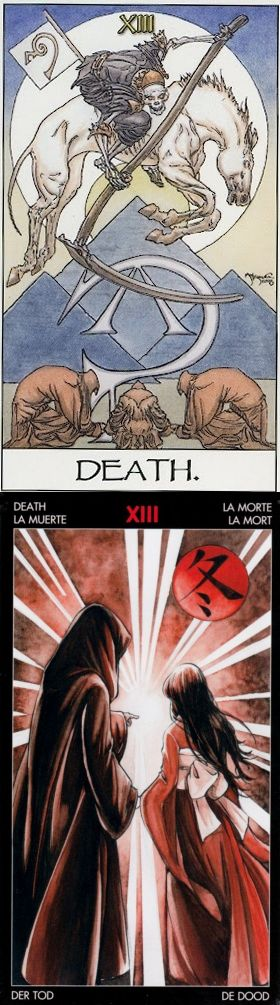 DEATH: cyclical closure and limbo (reverse). Mage Awakening Tarot deck and Manga Tarot deck: tarot nano, free tarot card prediction vs best free tarot reading online accurate. New witch costume and fortune telling tattoo.
