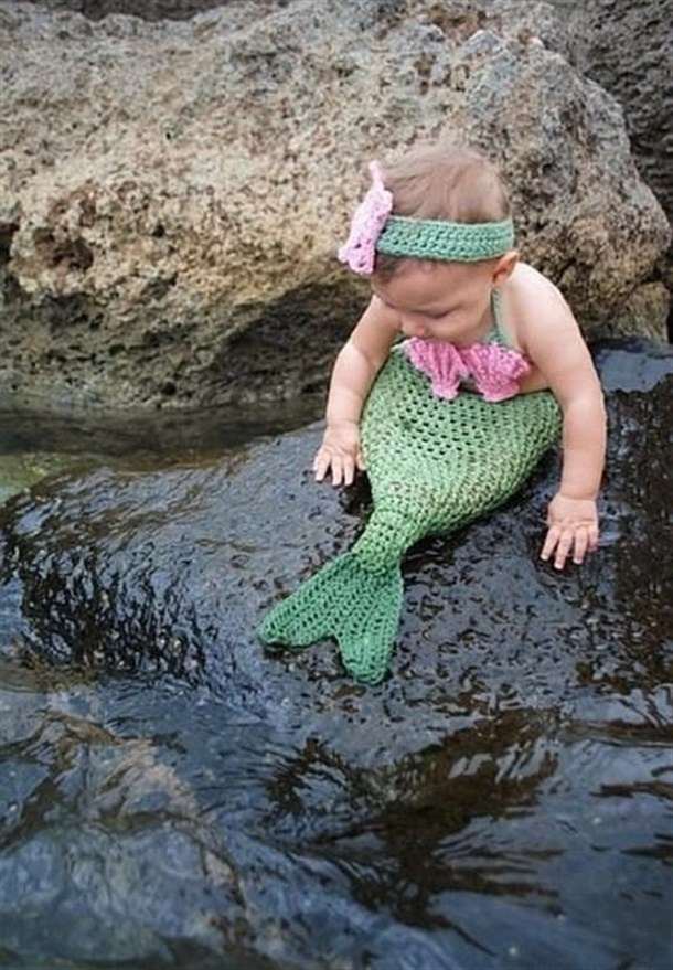 Baby mermaid costume.