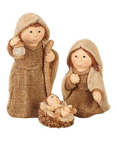 Look at this #zulilyfind! Nativity Scene Figurine Set #zulilyfinds