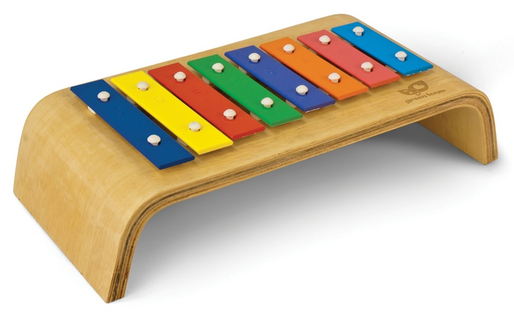 Melody Glockenspiel fits easily on a lap or table. Eight precision tuned bars in the C major diatonic scale provide an authentic musical experience. #green tones® #eco instruments & toys