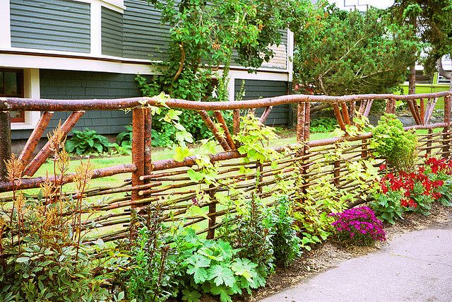 rustic..love it this fence  is amazing... Yea, and the top keeps the deer out.