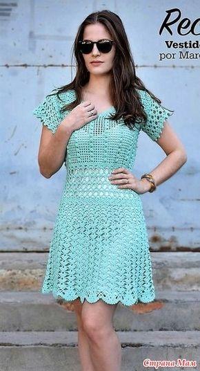 В этом изящном платье гармонично сочетаются несколько очень красивых и не сложных узоров. Размер 38  Пряжа 800 гр вискозы. Крючок 2.00мм. http://armarinhosaojose.blogspot.co.il/