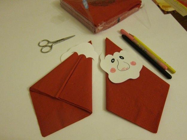 Lavoretti Natale per la scuola primaria - Lavoretto Natale per la scuola primaria: con i tovaglioli
