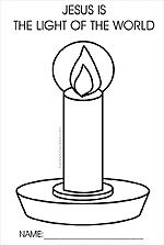 sunday school coloring sheets with a candle | Kids Christmas Coloring pages by age and subject from Sunday School ...
