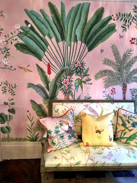 Textile Design | Fabric Design | Home Decor Trends | Millennium Pink | Apparel Trends | Chinoiserie Patterns | Pink de Gournay | Chinoiserie Chic |