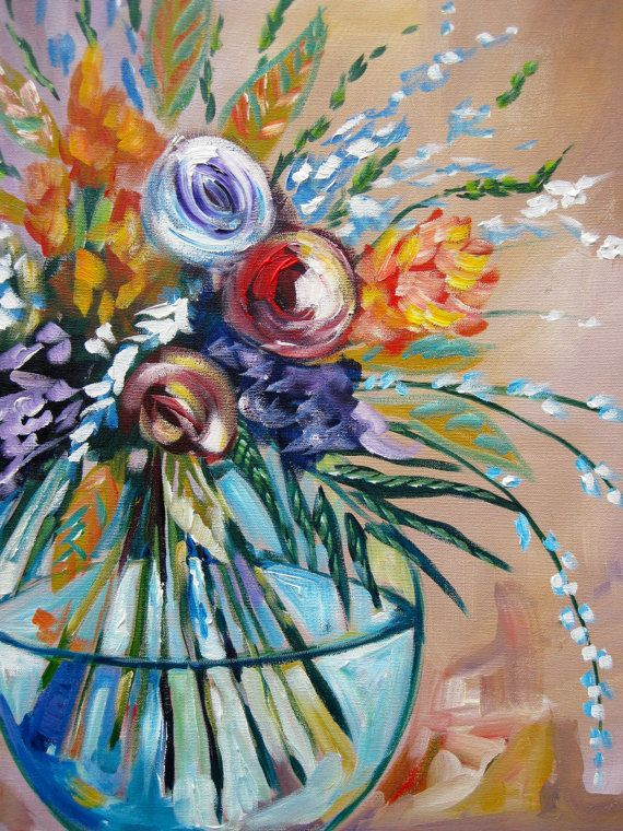 devotion abstract impressionism floral flower painting