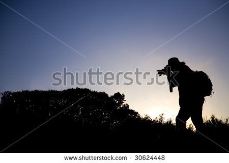 Photographer in the morning