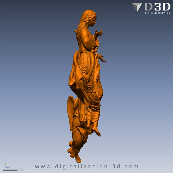 Escaneado 3d Conjunto escultorico completo - Vista lateral derecho