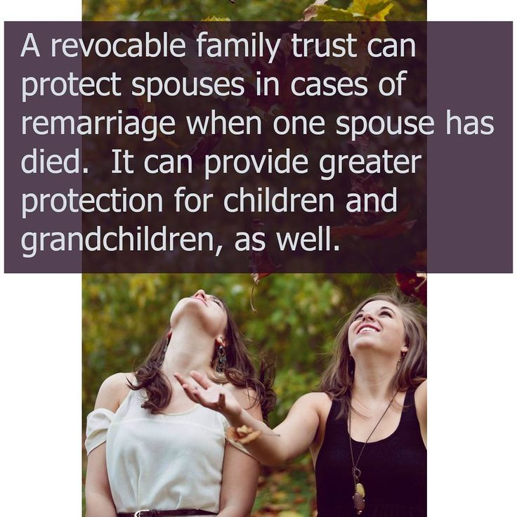A family trust is useful to those seeking to protect their families from needless probate fees, attorney's fees, court costs and federal estate taxes. However, it can also be useful in providing substantial protection for your family. #news #estateplanning #family #kids #marriage #divorce