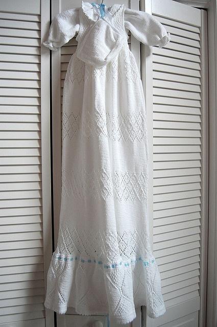 Christening Dress #6 / Dåpskjole 6 by Ingjerd Thorkildsen  Knit in Gernstudio DROPS Safran