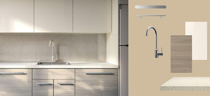 Ikea kitchen abstrakt door white sofielund door for Abstrakt kitchen cabinets