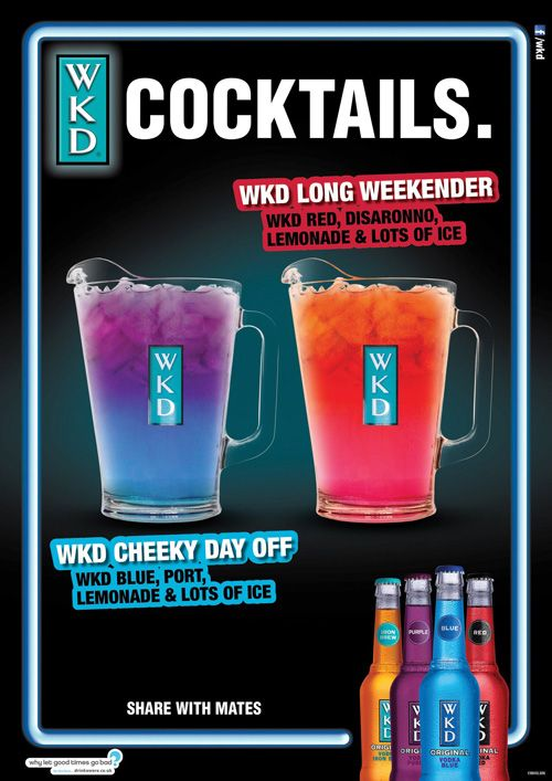 WKD Bank Holiday Cocktail Poster | Alcoholic Drink | EtOH ...