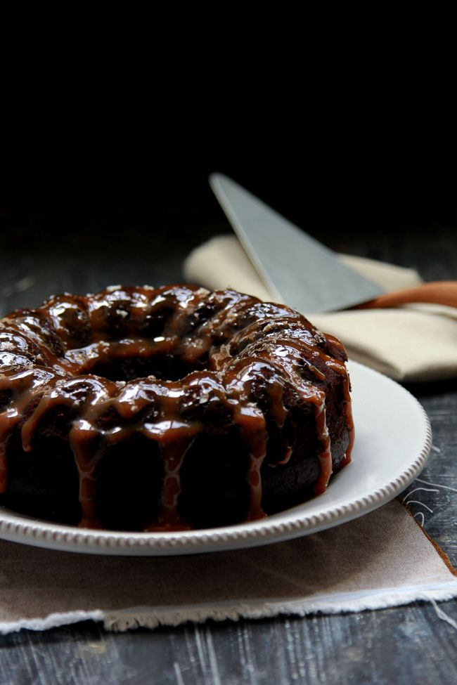 Salted Caramel Chocolate Bundt Cake Food Cake Chocolate Bundt