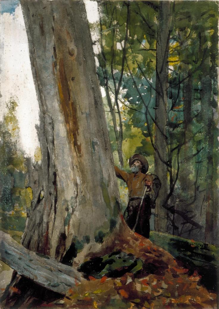 "Winslow Homer, ""Old Friends,"" 1894. Watercolor. Worcester Art Museum."