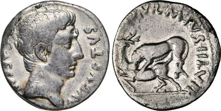 NumisBids: Numismatica Varesi s.a.s. Auction 65, Lot 135 : AUGUSTO, monetario M. Durmius (18 a.C.) Denario. B. 9 (Julia 203)...