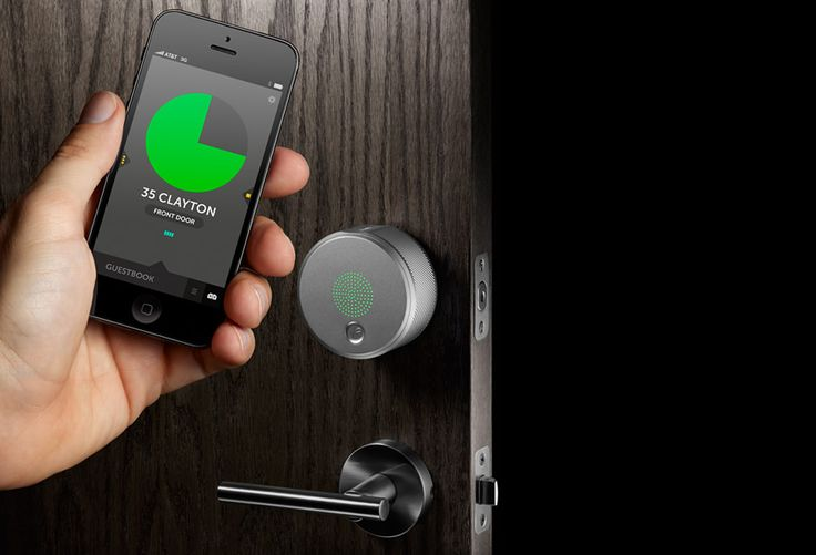 August Smart Lock  It's an intelligent keyless entry system, operated via Bluetooth, that can be retrofitted to an existing door with just two screws.