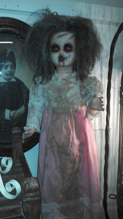 Scary doll! Who does this? Oh wait, I do LOL for Halloween that is...