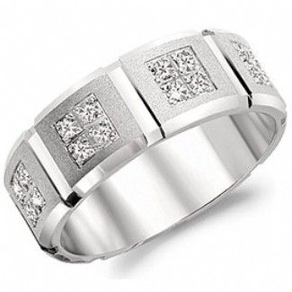 Crown Ring - Collections Wedding Bands Diamond Bands Wb 8174 M10