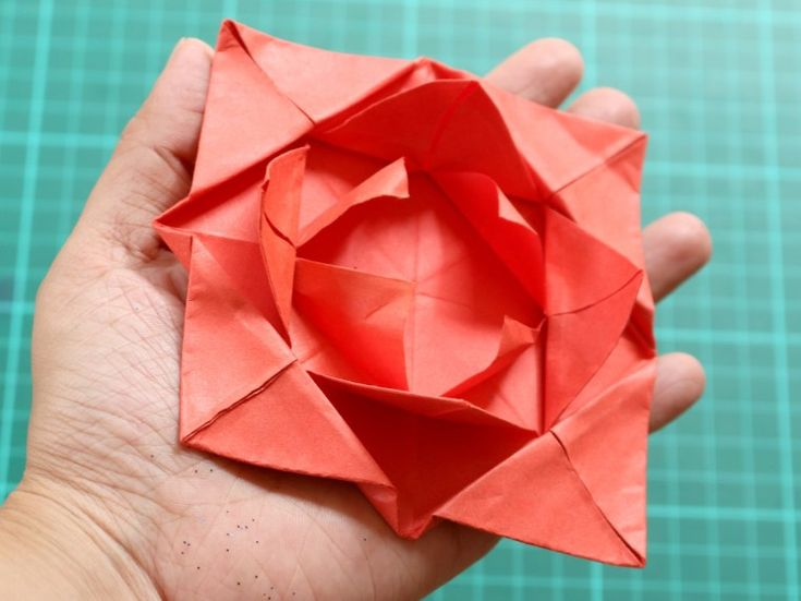 How To Make An Origami Flower How To Fold A Simple Origami Flower 12 Steps With …
