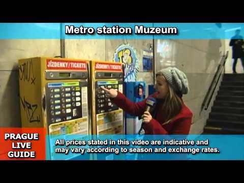 How to purchase ticket for metro, tram and bus in Prague, transport video guide part 2 - YouTube