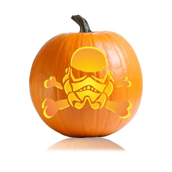 Stormtrooper Pumpkin Template <b>storm trooper</b> skull cross bones…