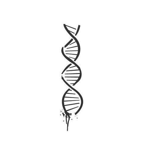 DNA temporary tattoo