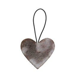 Julepynt - hjerte - sælskind