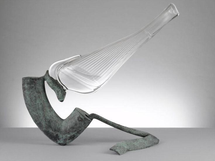 Vase by  J. Bicker Caarten, 1995. Het Nationaal Glasmuseum, CC BY