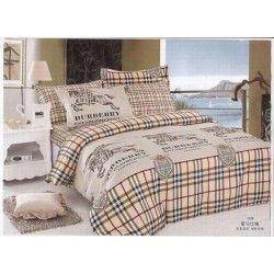 Burberry London Bettwäsche günstig billig gut preiswert King Size Seide Baumwolle Bed Set 6 Teilig