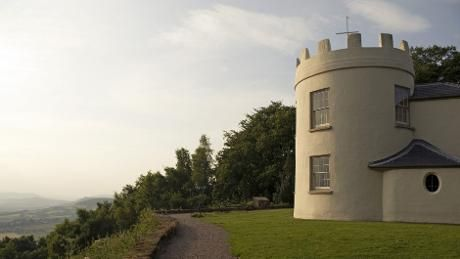 The two-storey tower known as the round house at the Kymin, Monmouthshire, Wales