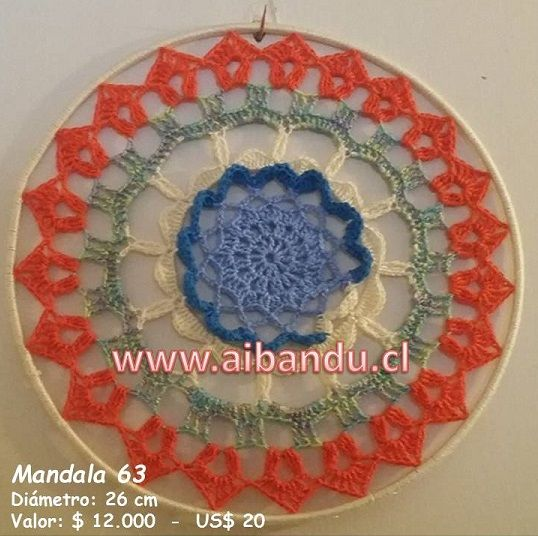 Mandala 63 ... tejido a crochet ... diametro 26 cm