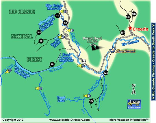 41 best images about creede mineral county chamber for Colorado fishing map