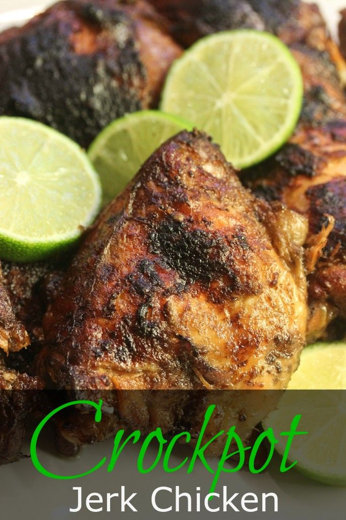My mouth is watering!!! Slow cooker + jerk chicken! My dreams are coming truuuuue!