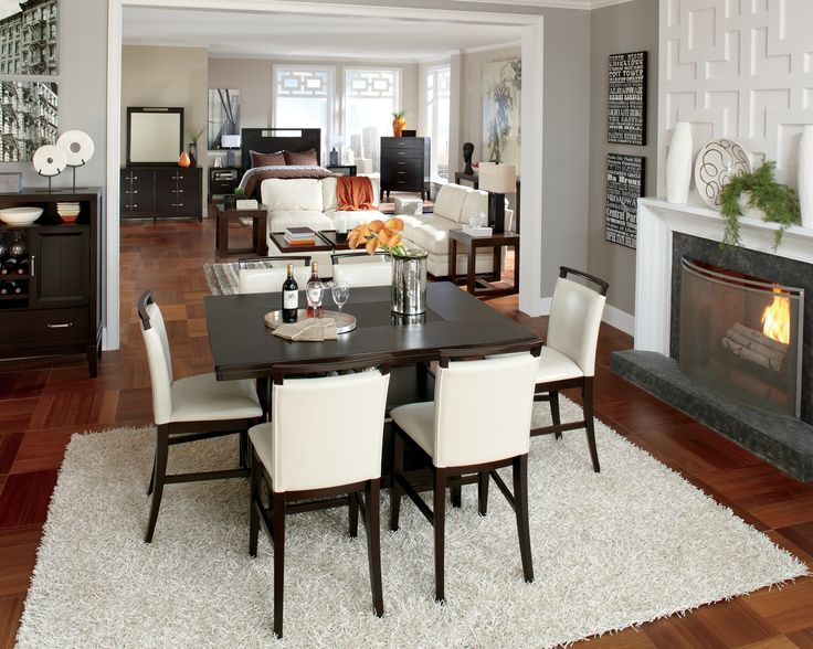 The Ashley HomeStore Trishelle Counter Height Dining Set Fits Perfectly In  Any Open Space Concept
