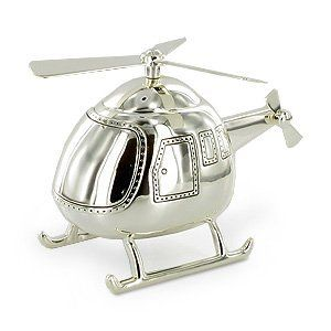 Baby/Christening Gifts-Beautiful Helicopter Money Box Silver Plated Christening Boy Gift:Buy New: $20.25