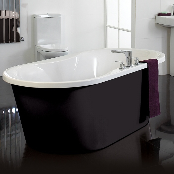 Phoenix Venice Black Freestanding Bath