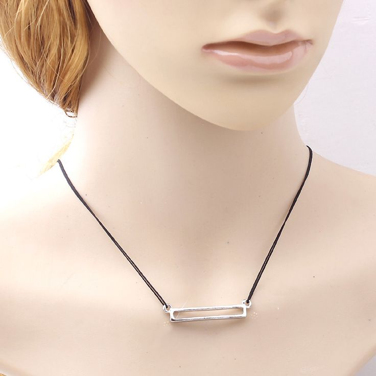 HOUDA 2017 New Fashion Geometric Black Rope Necklace & Pendant Collar Choker Necklace Women Neutral Jewelry Accessories N3385