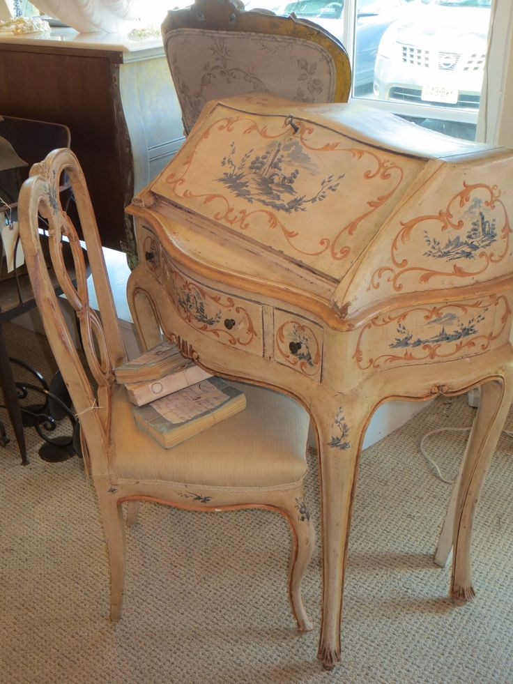 Italian Deskamp Chair Silver Moon Studio Antiques