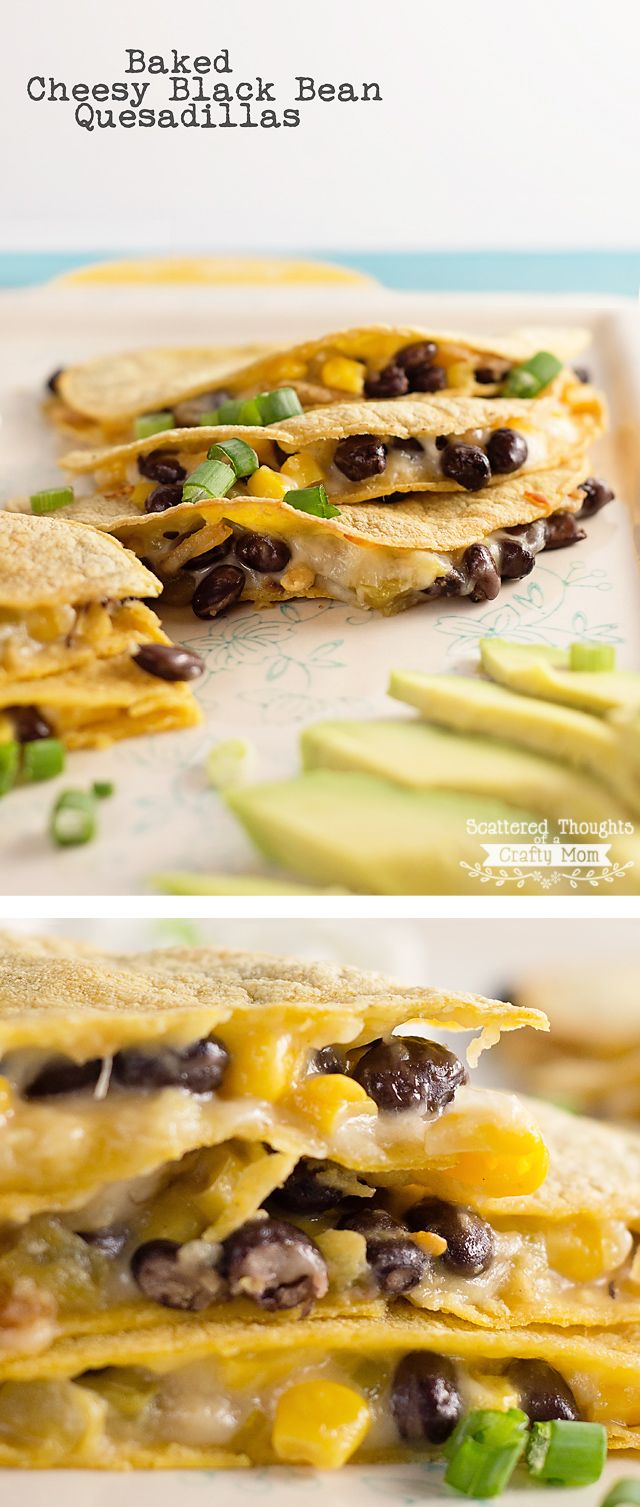 Make dinner quick and easy tonight with this Baked Cheese and Black Bean Quesadilla recipe.