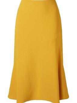 panelled detail midi skirt
