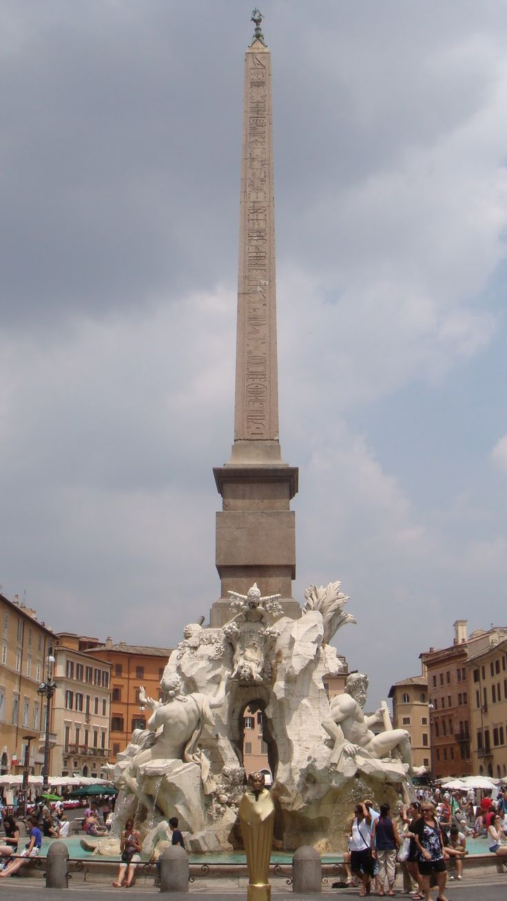 Did you know that there are more Egyptian obelisks in Rome than there are in Egypt? Piazza Navona, Rome, Italy. Lazio