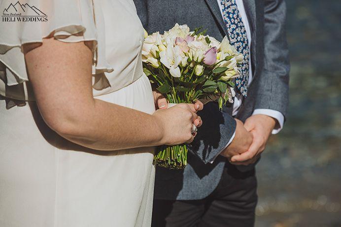 Sunshine bay wedding, destination wedding ceremony, lakeside wedding Queenstown